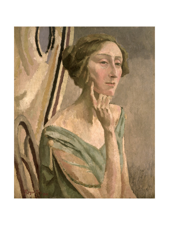 Portrait of Edith Sitwell (1887-1964), 1915 Giclee Print by Roger Eliot Fry