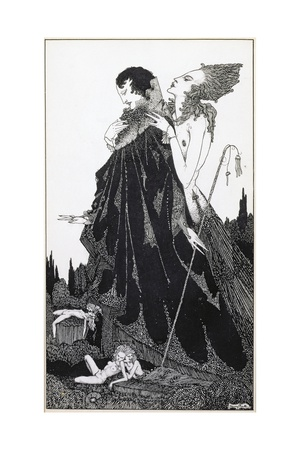 Illustration from 'Selected Poems of Algernon Charles Swinburne Clarke', Published in 1928 Giclee Print by Harry Clarke