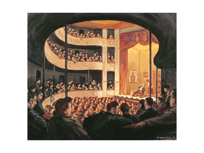 Entertainment at the Garrison Theatre, Bayeux, 1946 Giclee Print by Paul Goranson