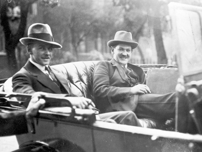 Michael Collins (1890-1922) with Emmet Dalton During the Treaty Discussions in London, 1921 Photographic Print by  English Photographer