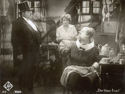 """Still from the Film """"The Blue Angel"""" with Marlene Dietrich, Kurt Gerron and Emil Jannings, 1930 Photographic Print by  German photographer"""
