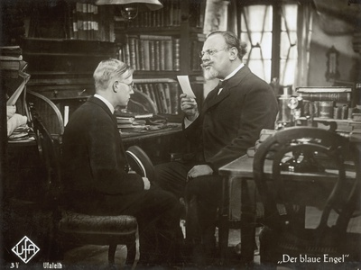 """Still from the Film """"The Blue Angel"""" with Emil Jannings and Rolf Mueller, 1930 Photographic Print by  German photographer"""