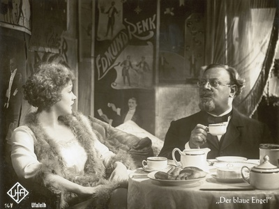 "Still from the Film ""The Blue Angel"" with Marlene Dietrich and Emil Jannings, 1930 Photographic Print by  German photographer"