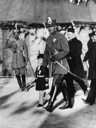 Shah Pahlavi of Persia with His Son the Crown Prince, April, 1926 Photographic Print by Thomas E. & Horace Grant