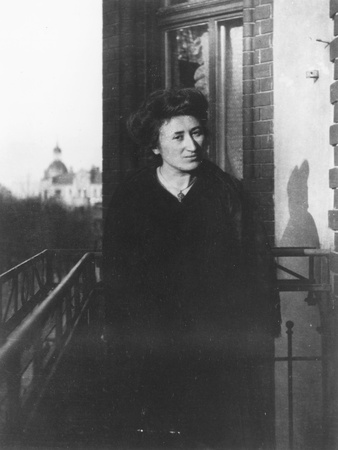 Rosa Luxemburg on a Balcony, 1910 Photographic Print by  German photographer