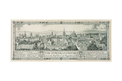 The Towers of Oxford from the Bell Tower of Magdalen, 1908 Giclee Print by Edmund Hort New