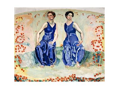 The Sacred Hour, c.1907-11 Gicléetryck av Ferdinand Hodler