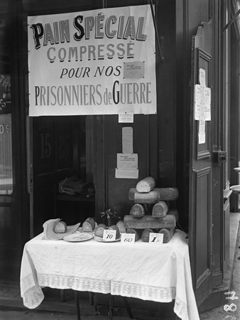 'Special Squashed Bread for Our Prisoners of War', Paris, 1915 Photographic Print by Jacques Moreau