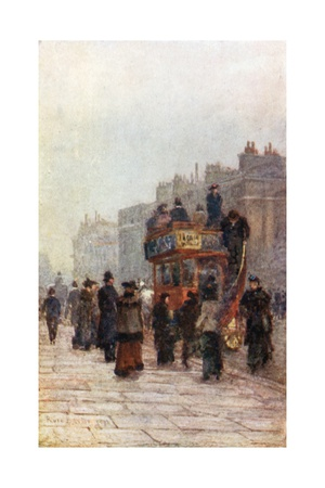 Hammersmith 'Bus Giclee Print by Rose Maynard Barton
