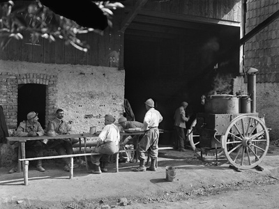 Kitchen in a Camp, c.1916 Photographic Print by Jacques Moreau