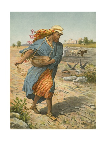 The Sower Sowing the Seed Giclee Print by  English School
