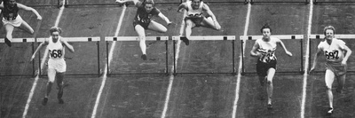 Fanny Blankers-Koen on Her Way to Winning Gold in the 80 M. Hurdles Race at the 1948 London… Photographic Print