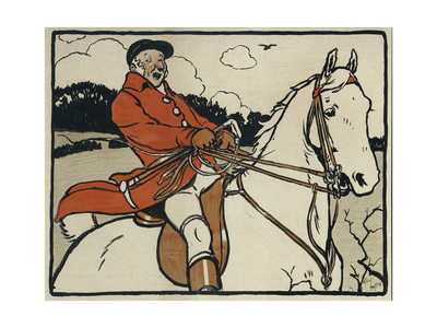 Old English Sports and Games: Hunting, 1901 Giclee Print by Cecil Aldin