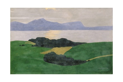 The Saleve and the Lake, 1900 Giclée-Druck von Félix Vallotton