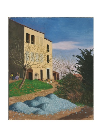 House in the Sun, Blue Stones, 1920 Giclee Print by Félix Vallotton