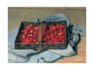 Basket of Cherries, 1921 Giclee Print by Félix Vallotton