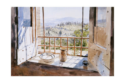 View from a Window, 1988 Giclée-tryk af Lucy Willis