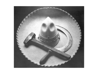 Mexican Revolution: Sombrero with Hammer and Sickle, Mexico City, 1927 Photographic Print by Tina Modotti