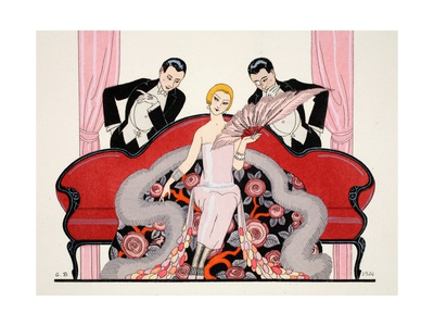Detail of the Front Cover of 'Falbalas and Fanfreluches, Almanach des Modes Giclee Print by Georges Barbier