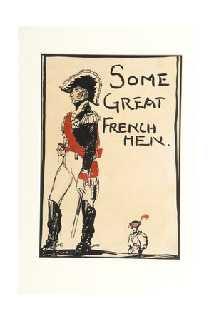 Some Great French Men, 1917 Giclee Print by Claud Lovat Fraser