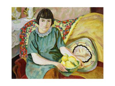 Portrait of Zoum Van Den Eeckhoudt, 1915 Giclee Print by Roger Eliot Fry