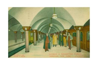 Hudson and Manhattan Subway Terminal, New York, 1909 Giclee Print by Pierre P. Pullis