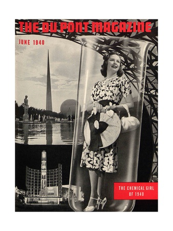 The Chemical Girl, Front Cover of the 'Dupont Magazine', June 1940 Giclée-tryk af  American School
