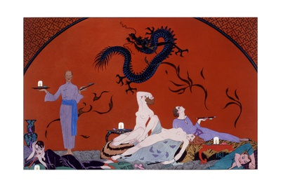 At the House of Pasotz, c.1921 Giclee Print by Georges Barbier