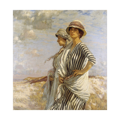 Mrs Talmage and a Friend, 1916 Giclee Print by Algernon Mayow Talmage