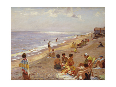 Silver Morning, Aldeburgh, 1932 Giclee Print by Algernon Mayow Talmage