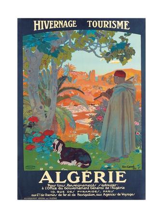 Algerie, 1921 Gicléetryck av Leon Georges Carre