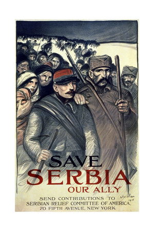 """""""Save Serbia, Our Ally"""", 1916 Giclee Print by Théophile Alexandre Steinlen"""