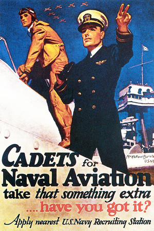 Cadets for Naval Aviation Take That Something Extra, 1943 Giclee Print by McClelland Barclay