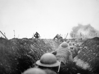 'Going over the Top', 24th March 1917 Photographic Print by  English Photographer