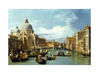 The Entrance to the Grand Canal, Venice Giclee Print by  Canaletto