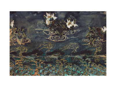 Water Lilies Giclee Print by Mikhail Alexandrovich Vrubel