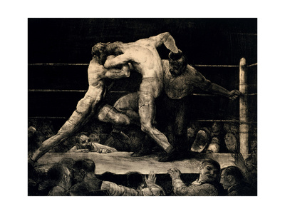 A Stag At Sharkey's Giclee Print by George Bellows