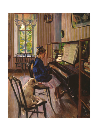 At the Piano Giclee Print by Sergei Arsenyevich Vinogradov