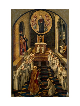 The Apparition of the Virgin to a Dominican Community Giclée-tryk af Pedro Berruguete