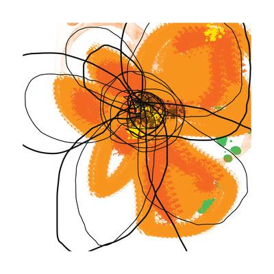 Orange Petals 2 Prints by Jan Weiss