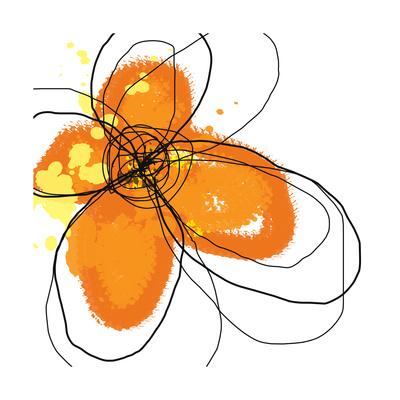 Orange Petals Print by Jan Weiss