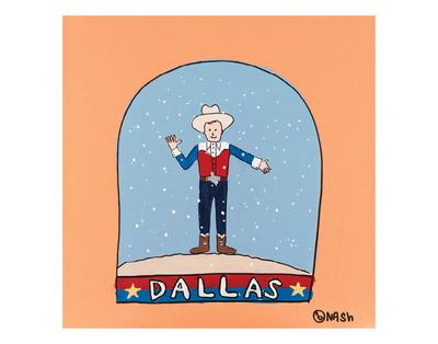 Dallas Snow Globe Prints by Brian Nash