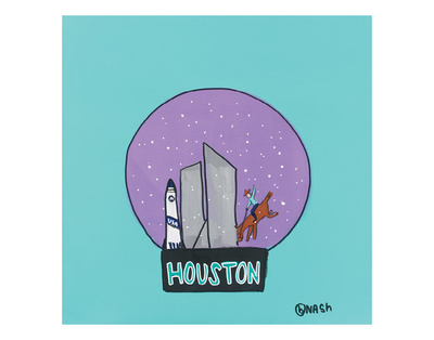 Houston Snow Globe Posters by Brian Nash