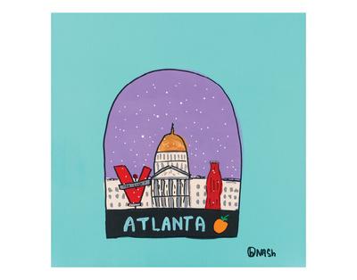 Atlanta Snow Globe Prints by Brian Nash