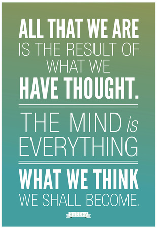 What We Think We Shall Become Buddha Plakát