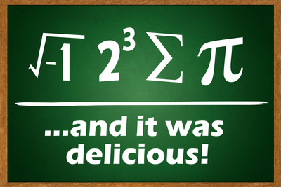 ...and it was delicious Pi joke humor poster artwork
