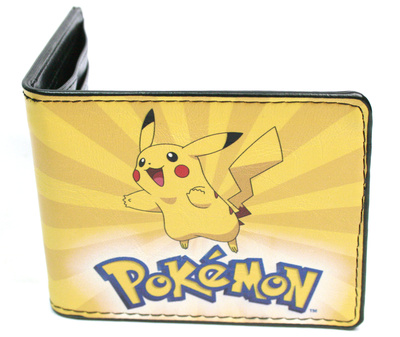Pokemon merchandise Pikachu happy face yellow leather wallet