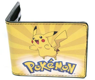 Pokemon merchandise Pikachu happy face yellow leather wallet