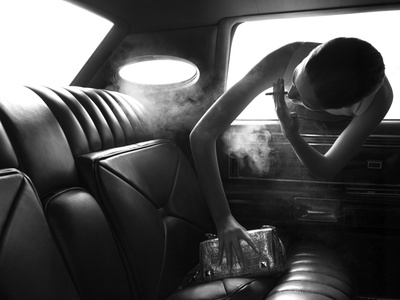 Smoking in Cars Photographic Print by Alex Cayley