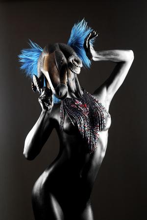 Masked Nude Fotoprint van Graeme Montgomery